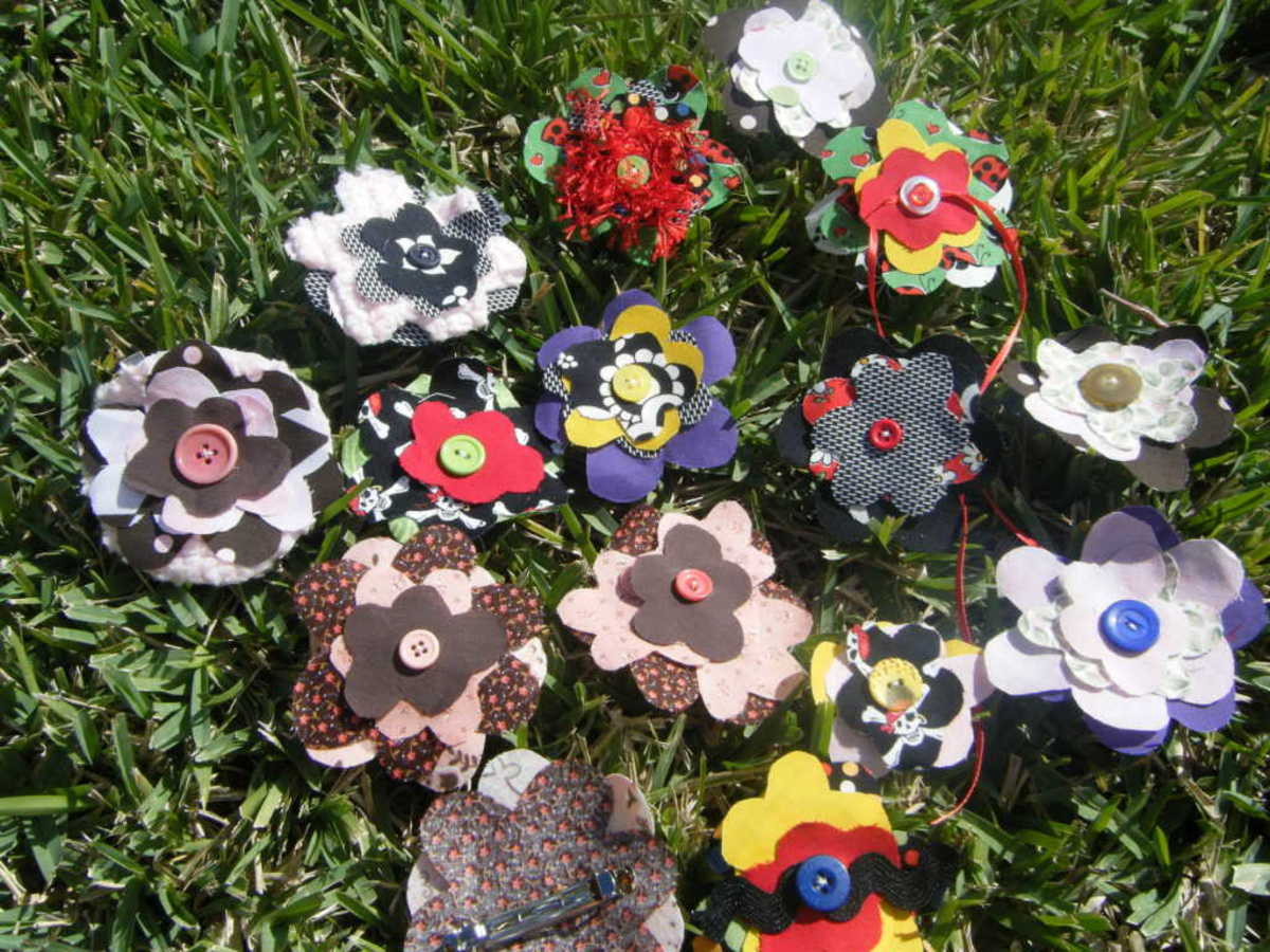 Instructions to Make Your Own Fabric Flower Hair Clip