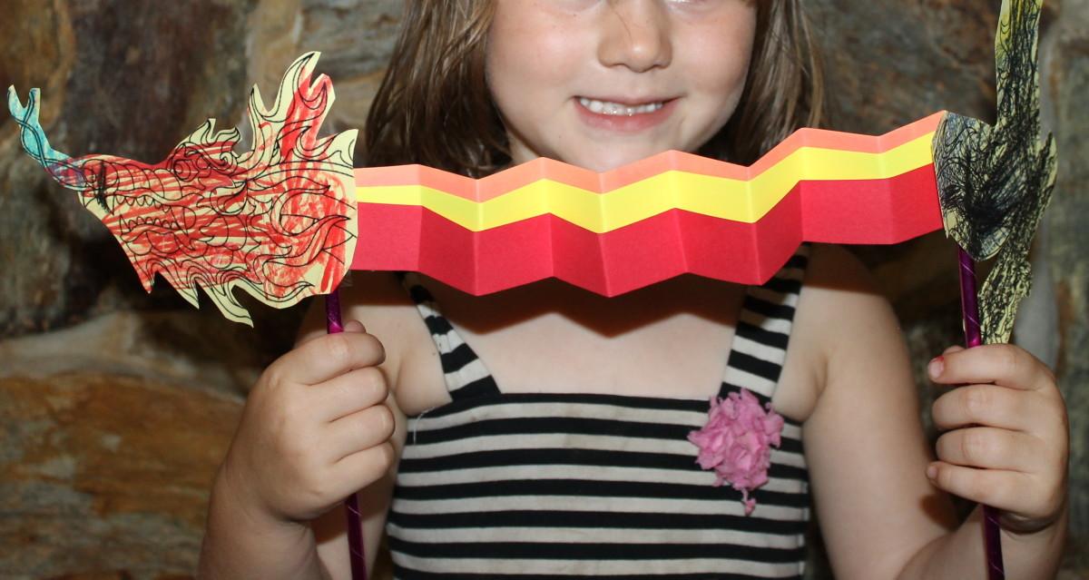 Dragon Puppet created by a preschooler