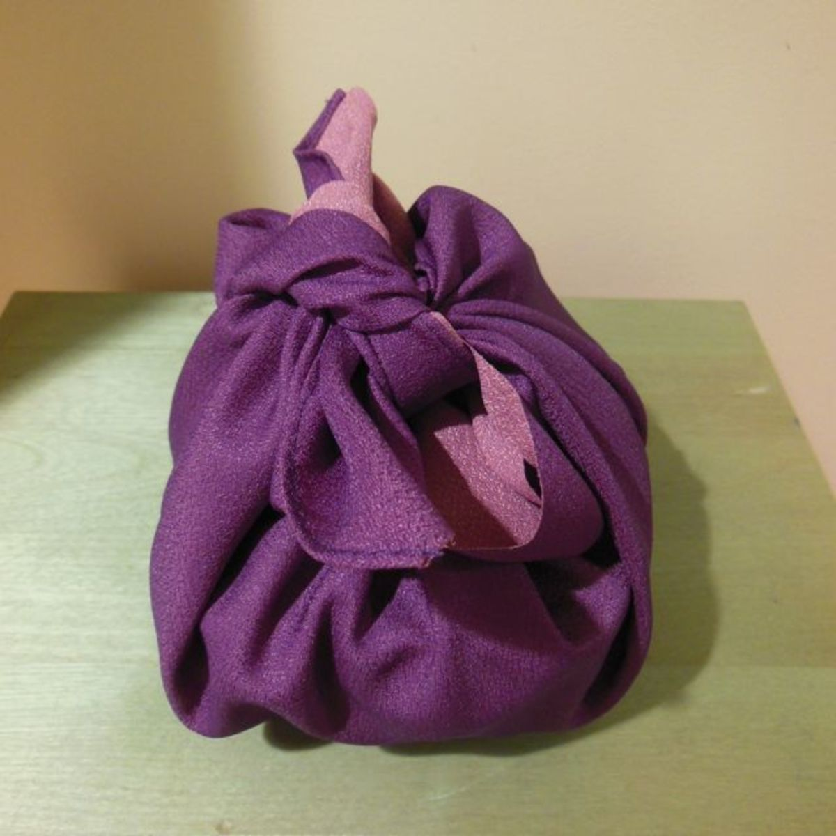 Your basic package wrap done with a cloth furoshiki.