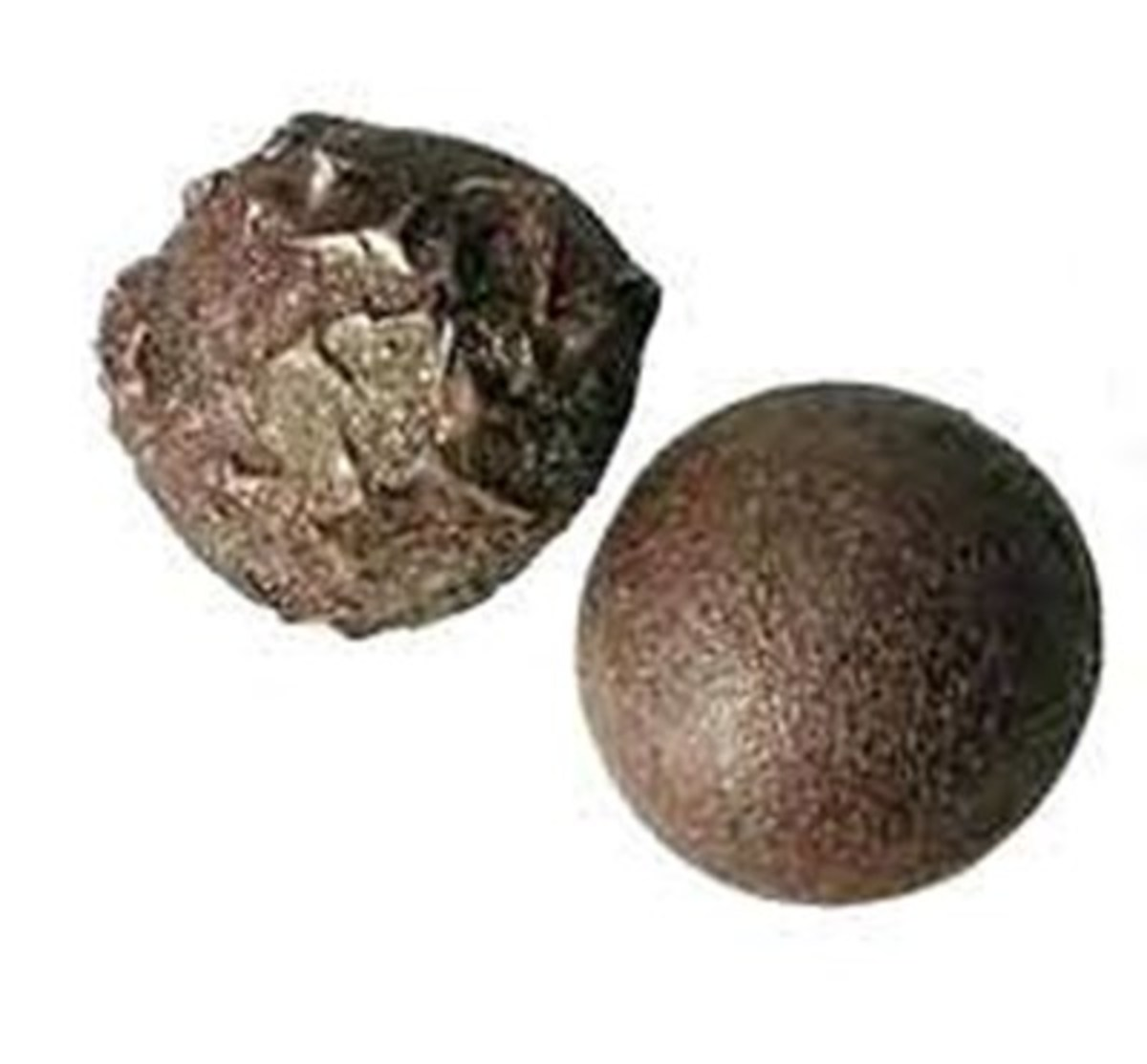 Boji stones typically come in two forms, the male and female. The male form has sharp, obtrusive edges while the female form as smooth, rounded edges.