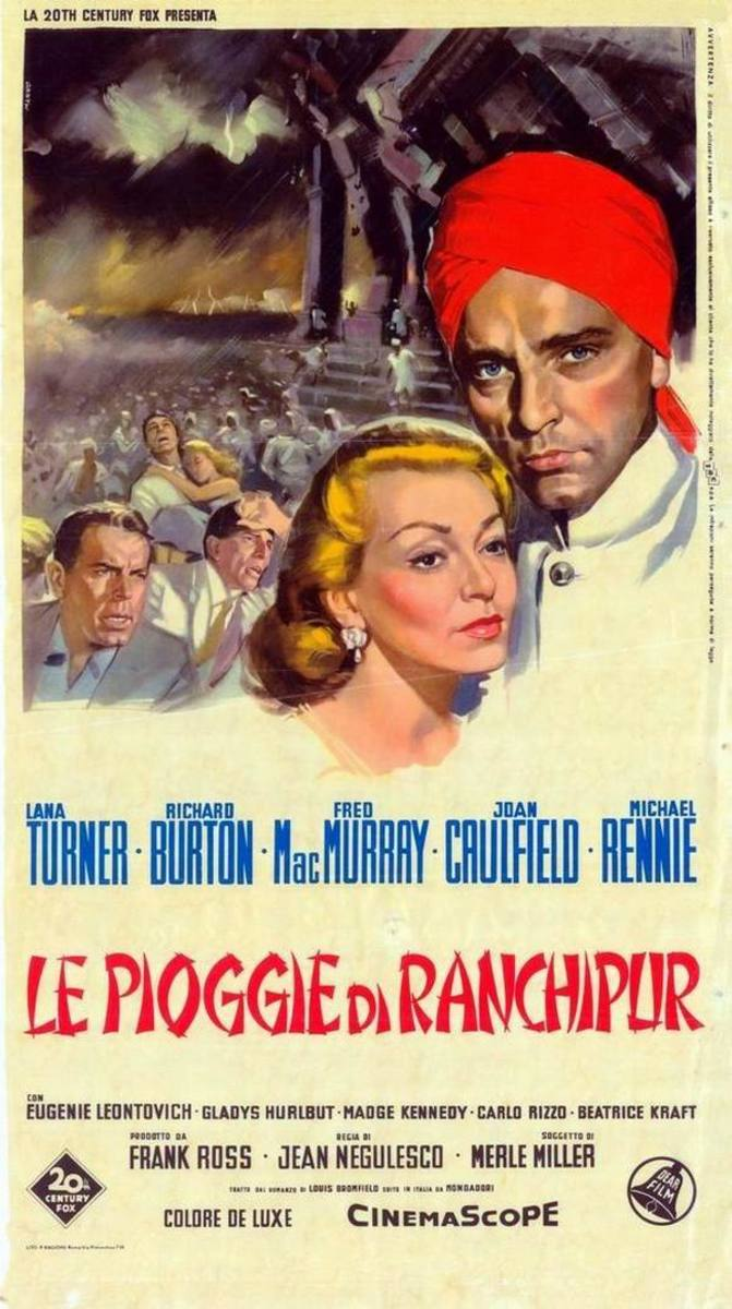 The Rains of Ranchipur 1955 Italian poster