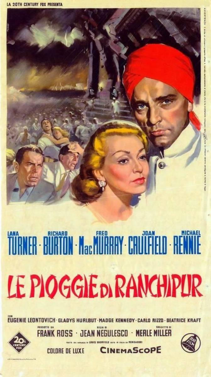 The Rains of Ranchipur (1955) Italian poster