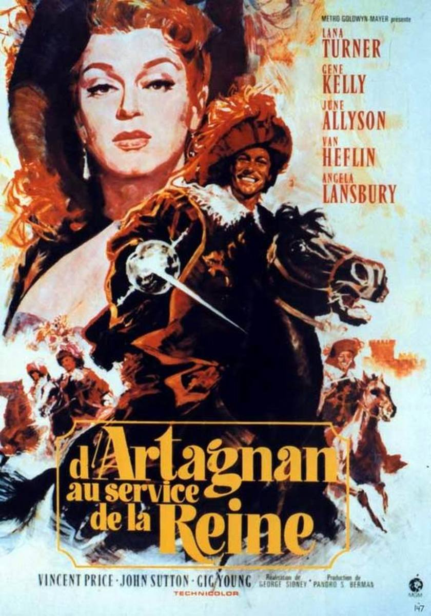 The Three Musketeers (1948) French poster