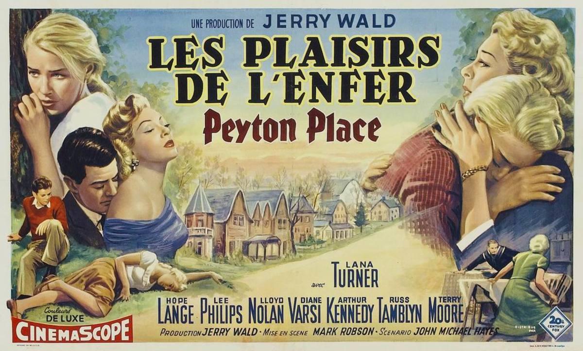 Peyton Place 1957 Belgian poster