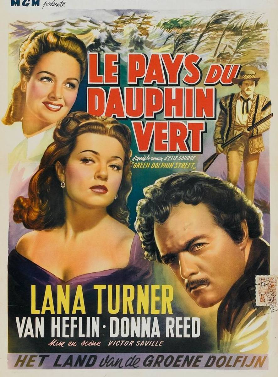 Green Dolphin Street (1947) Belgian poster