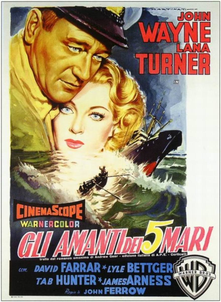 The Sea Chase (1955) Italian poster