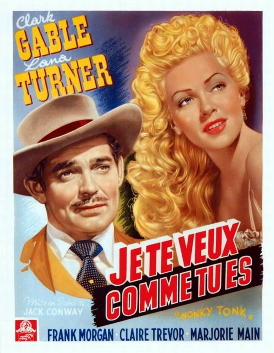 Honky Tonk (1941) Belgian poster