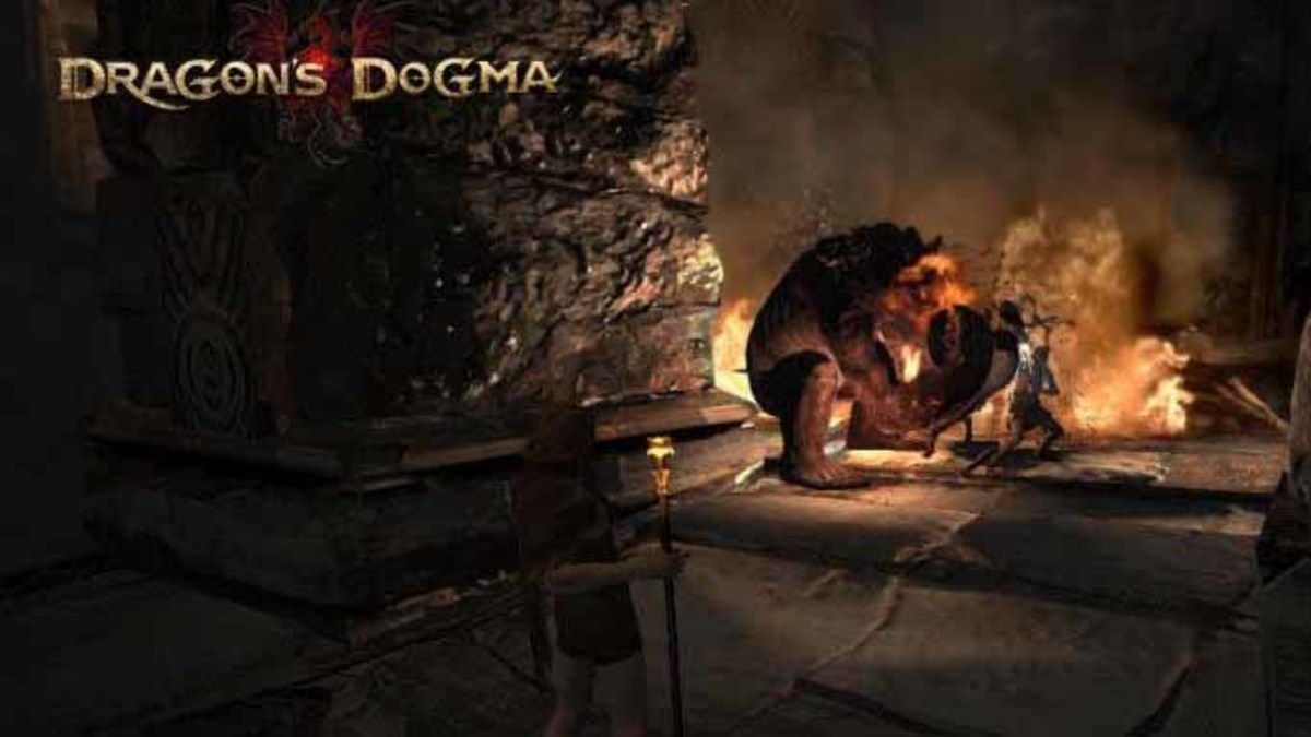 Dragon's Dogma Defeat the Ogre in Lure of the Abyss Quest using Fire Spells