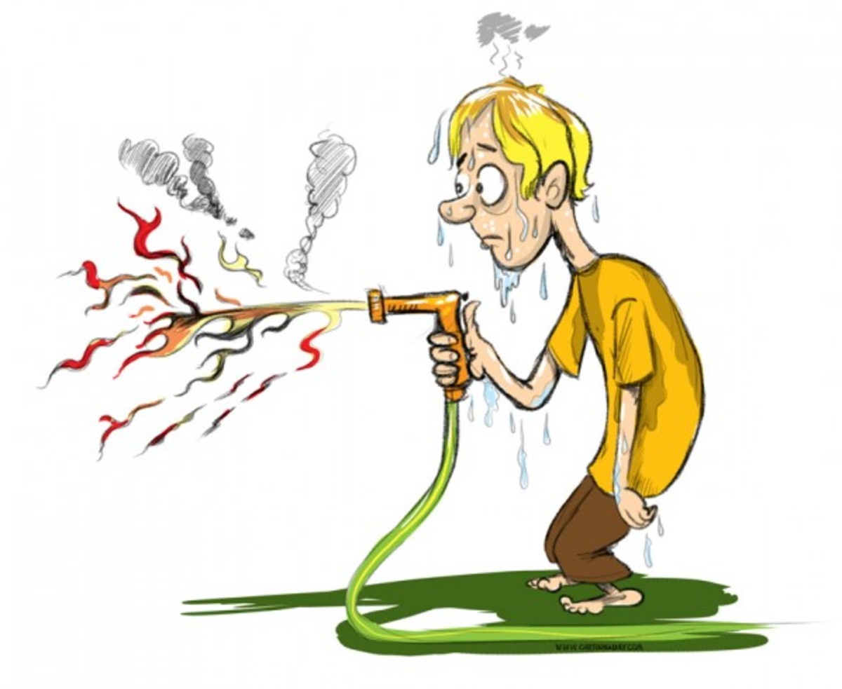"""Whole new meaning to the term """"fire-hose""""."""
