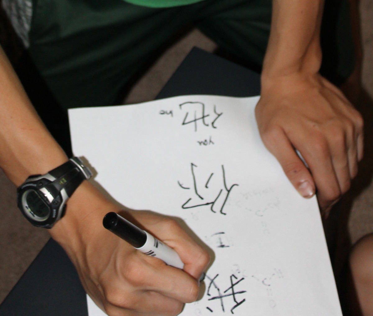 Attempting Chinese Character Writing