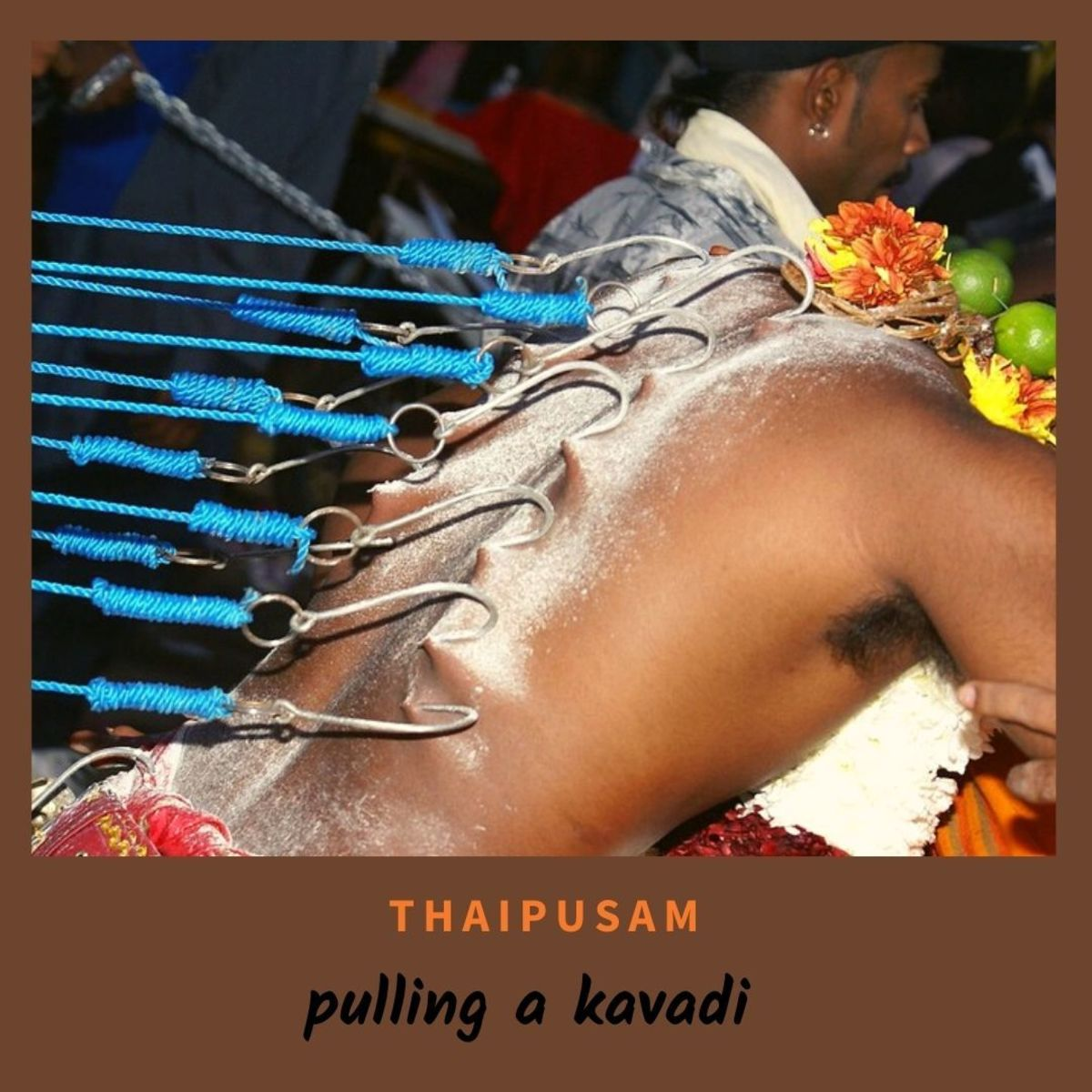 A devotee who has taken his vow for the Thaipusam