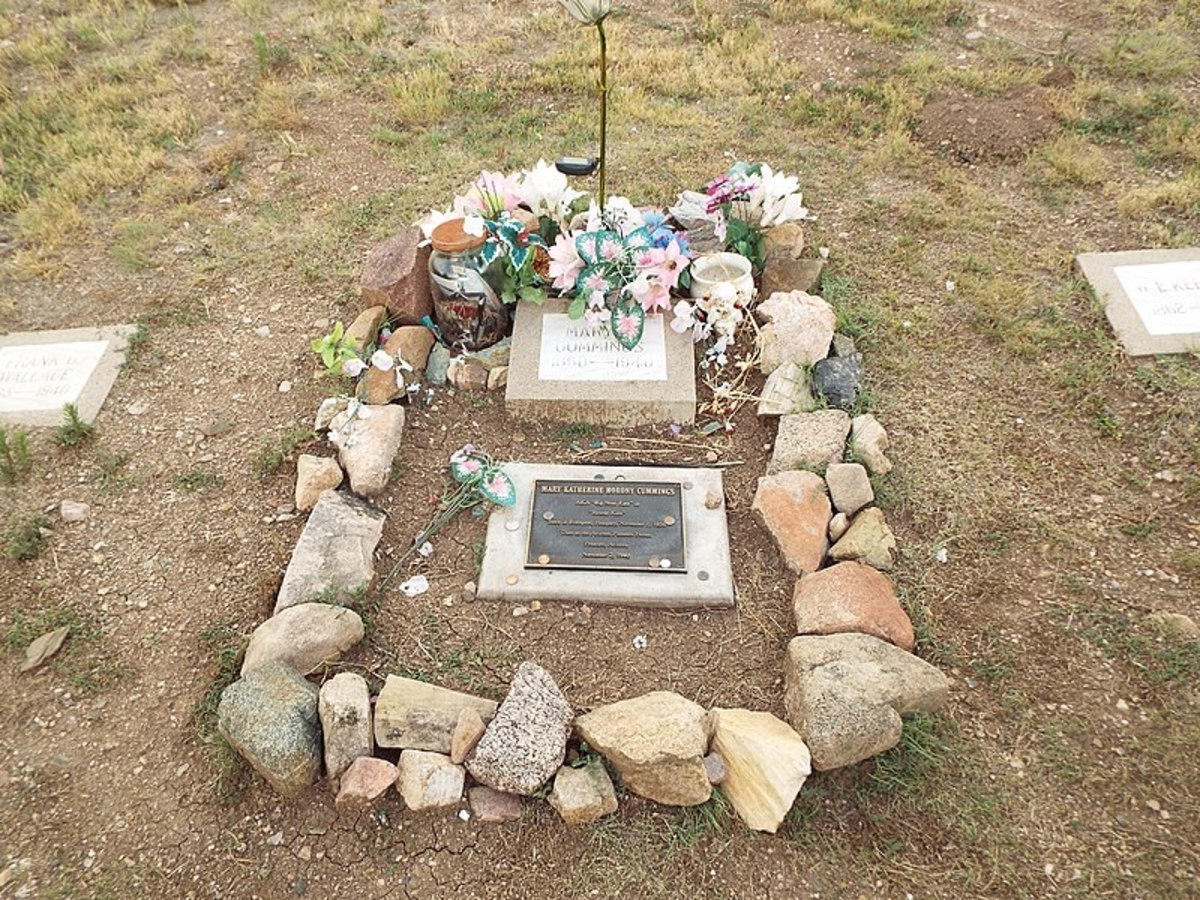 Big Nose Kate's very modest final resting place.