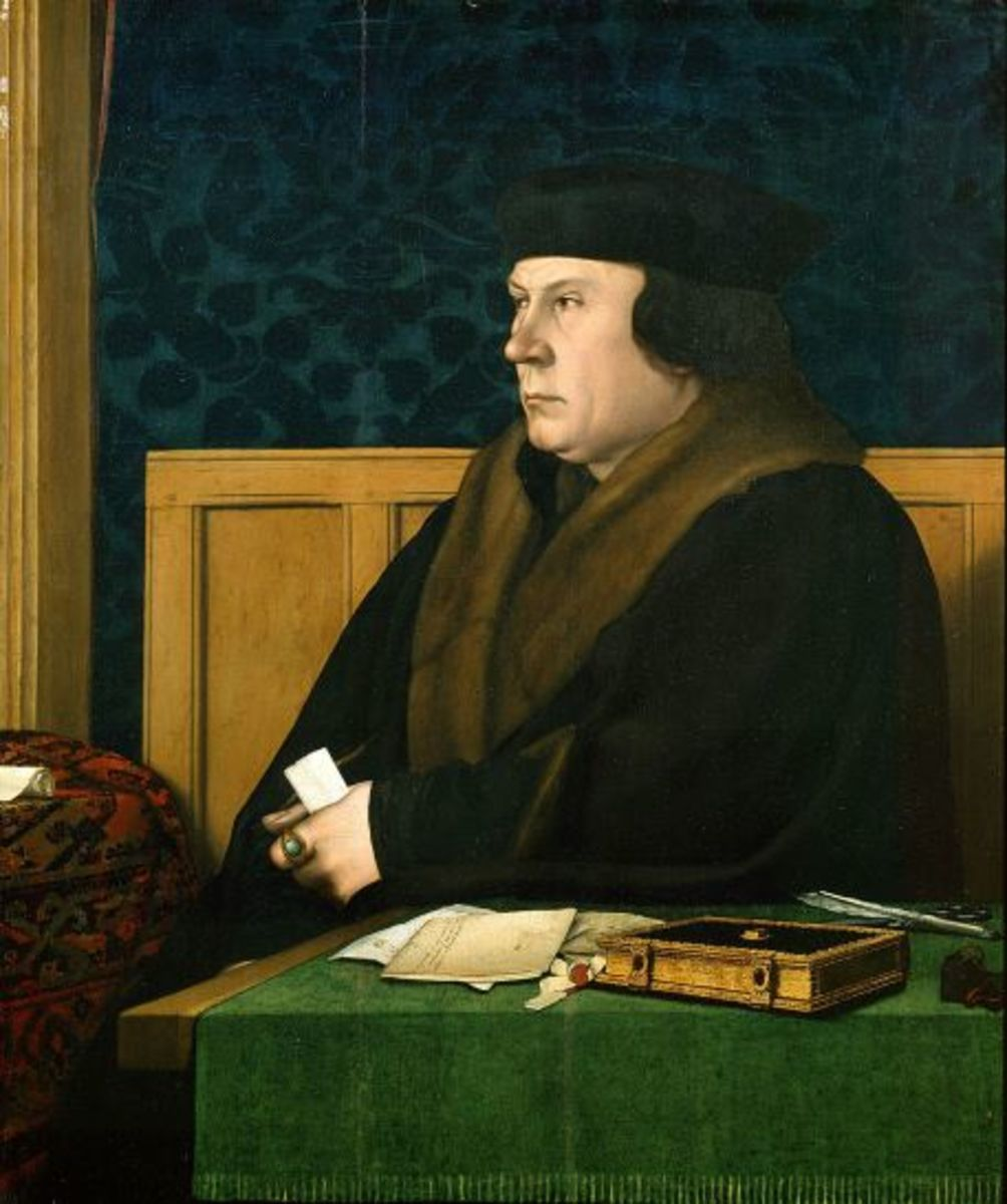 Thomas Cromwell, his rise and fall were equally dramatic.