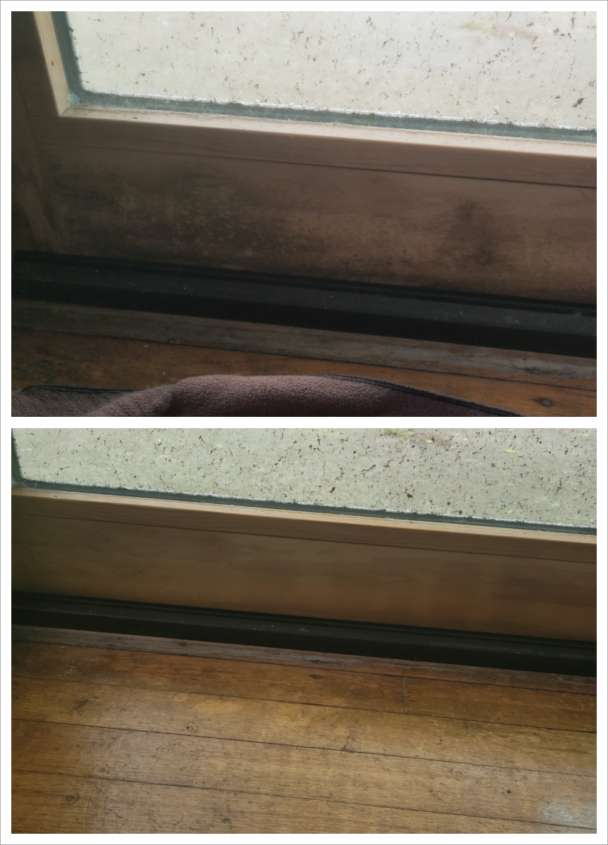 Before and After. White Vinegar to the rescue!