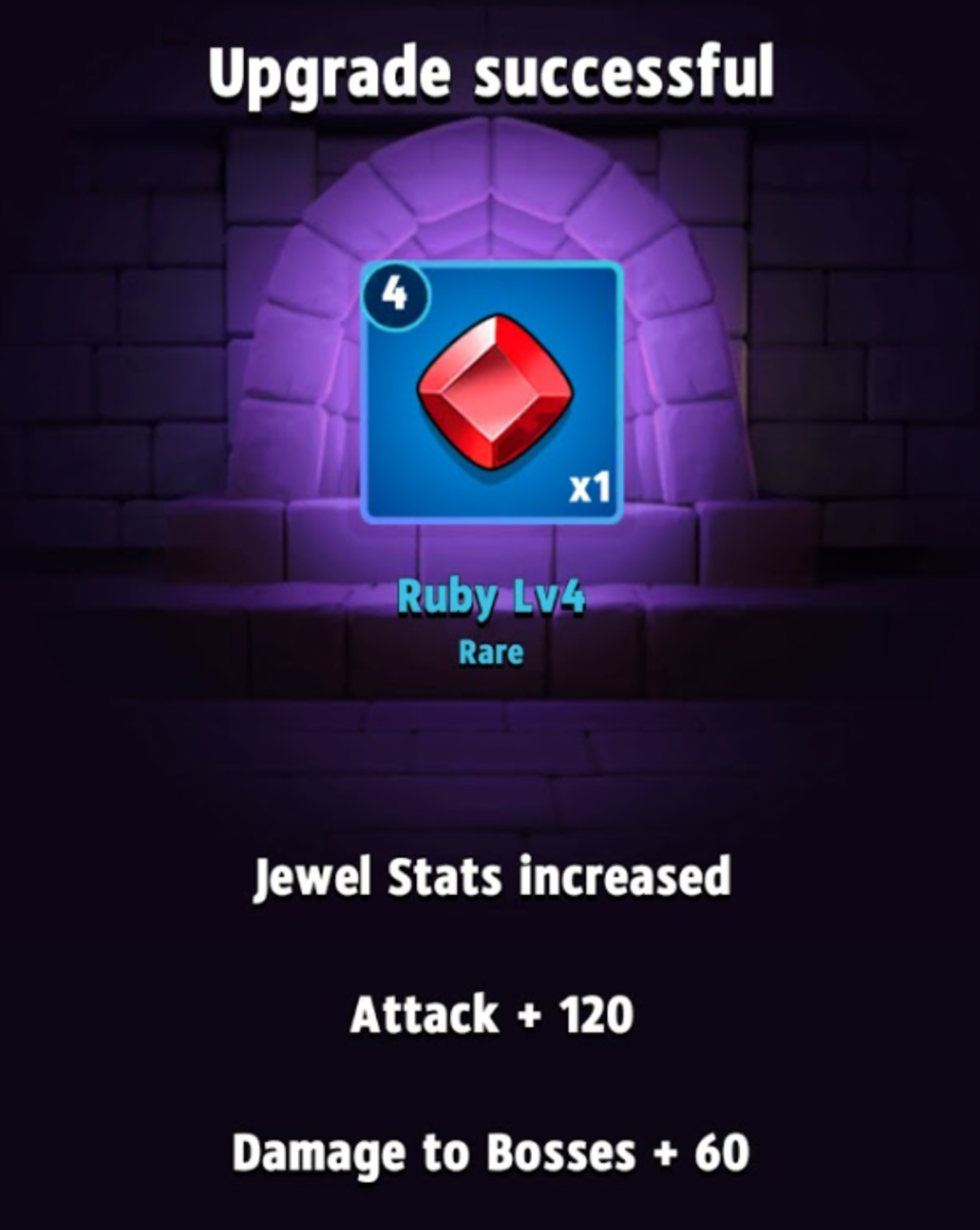 This level 4 Ruby grants 120 attack and 60 damage to bosses.