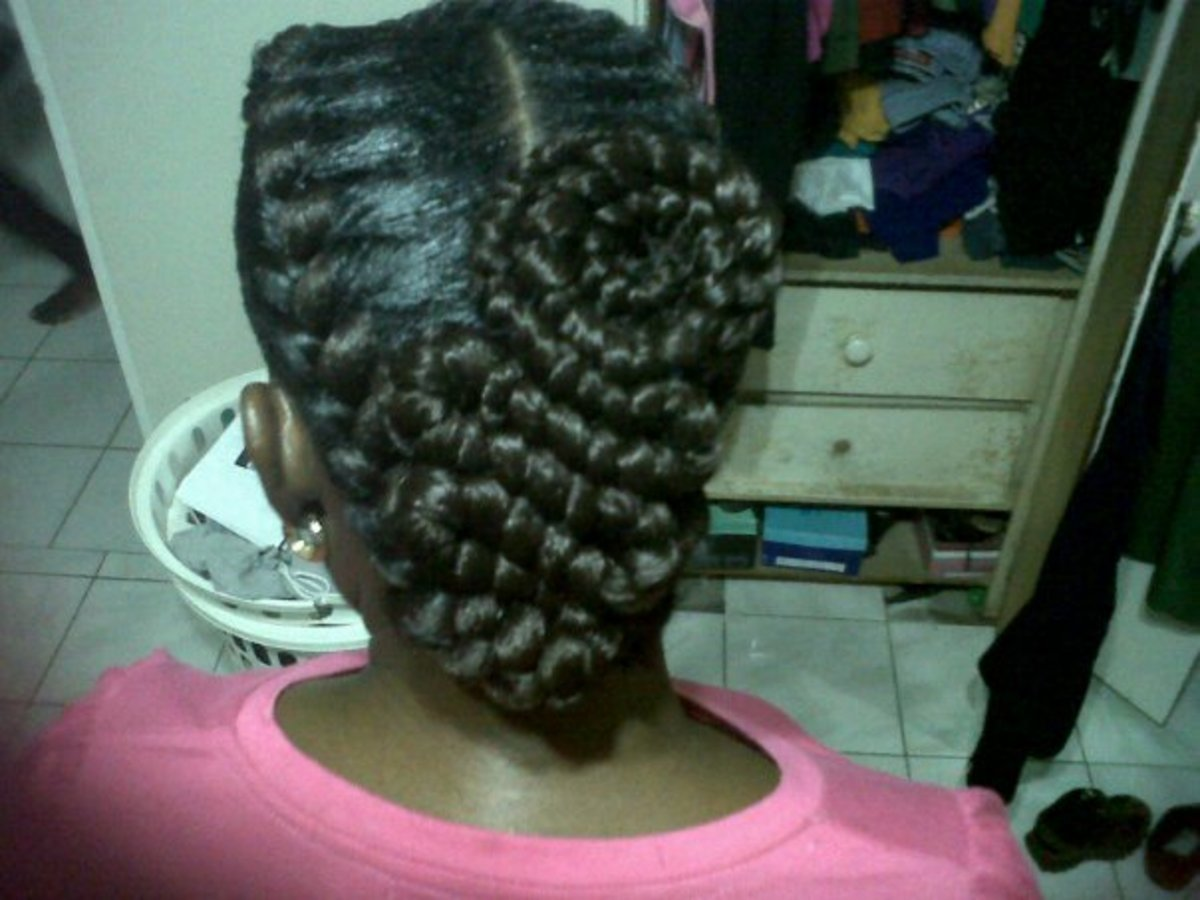inside cornrows or goddess braids 4
