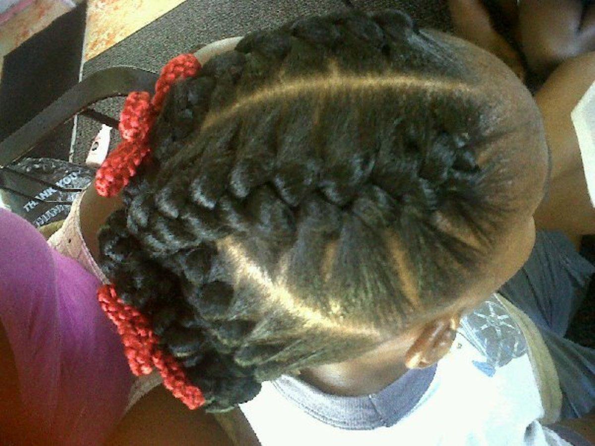 inside cornrows or goddess braids 2