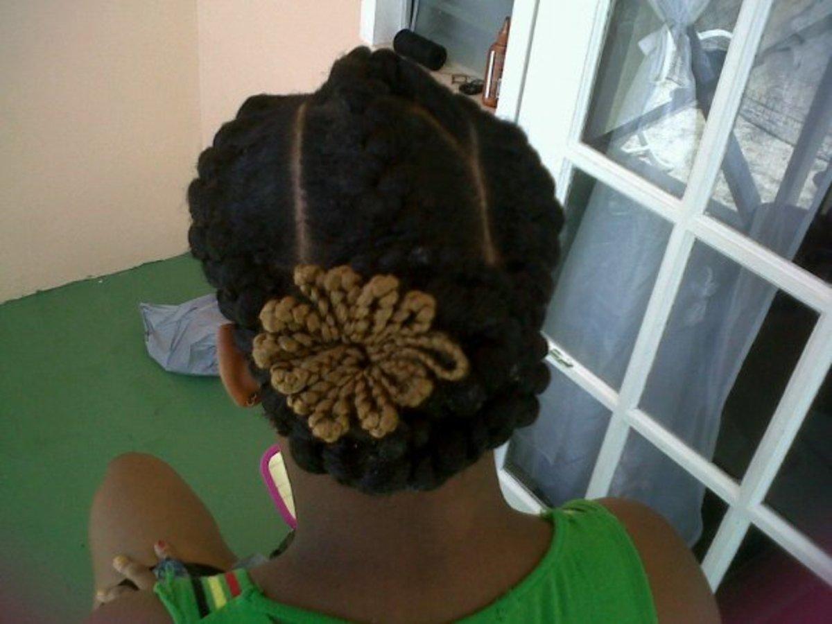 inside cornrows or goddess braids 1