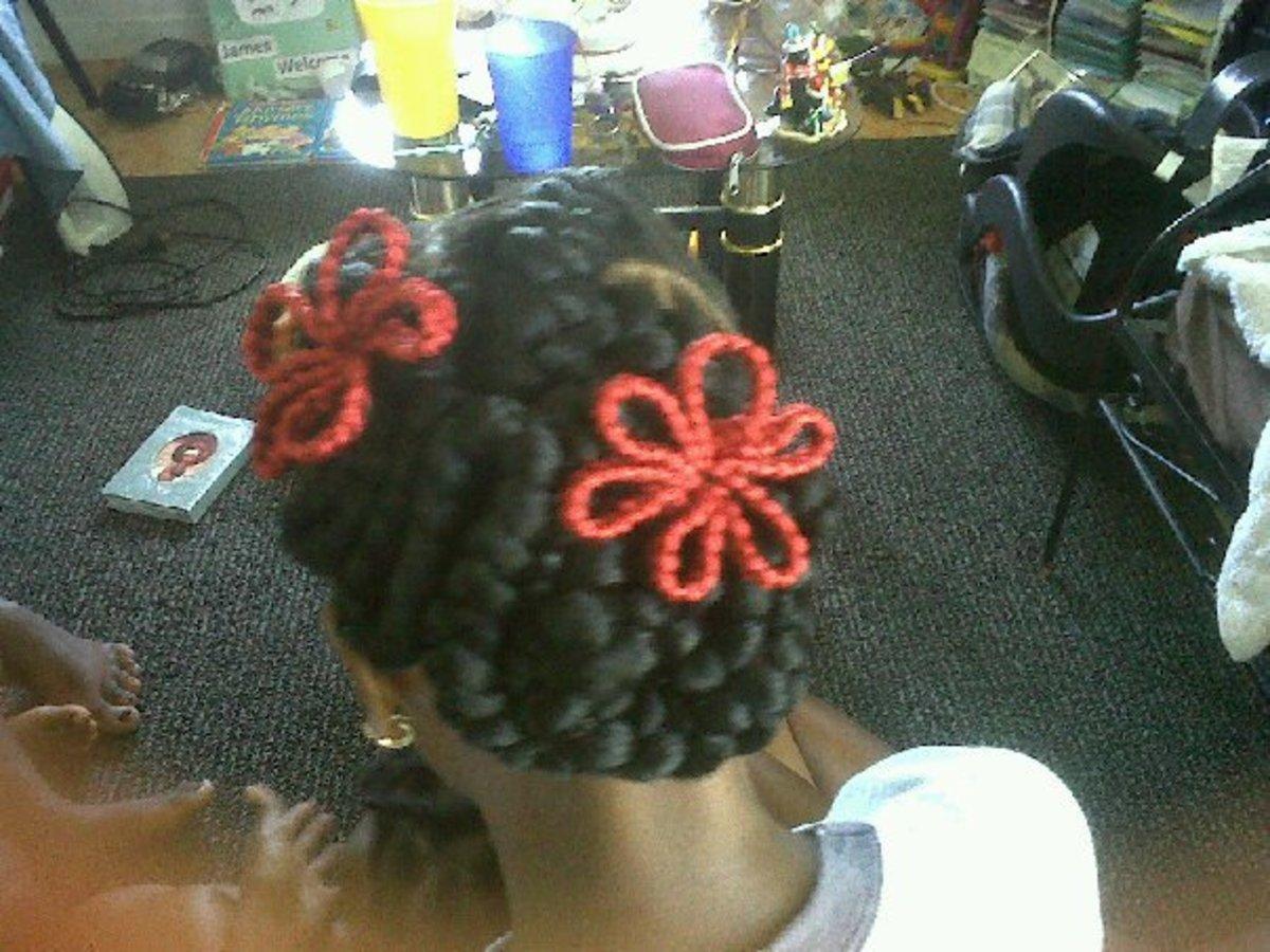 inside cornrows or goddess braids 3