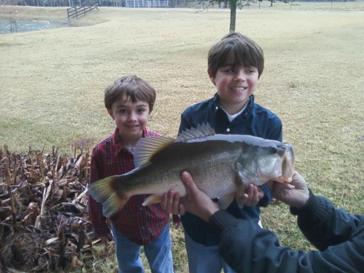 Jonathan caught this bass.