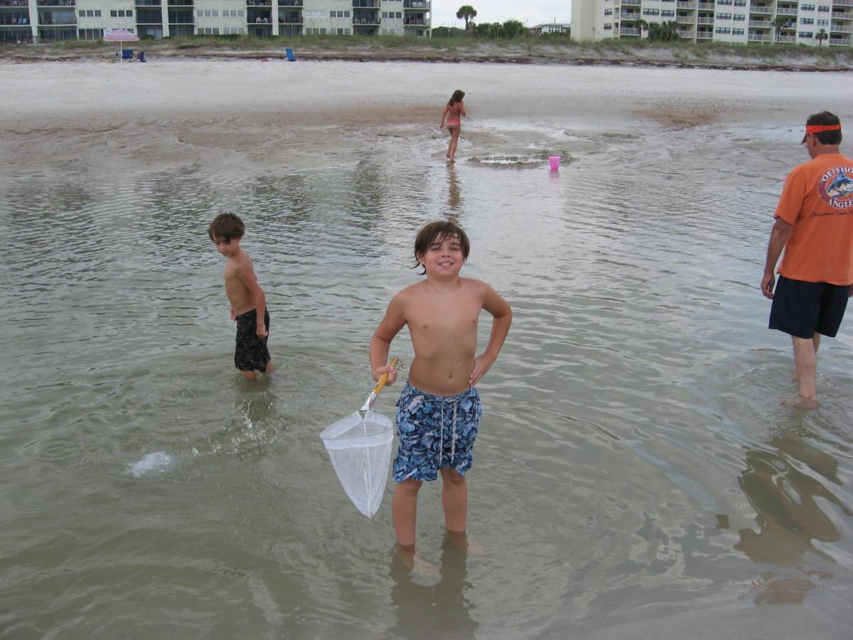 Catching bait on Amelia Island.
