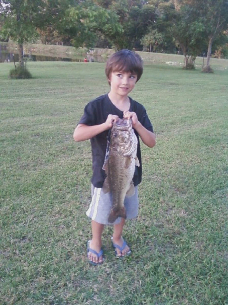 Tristan caught this bass.