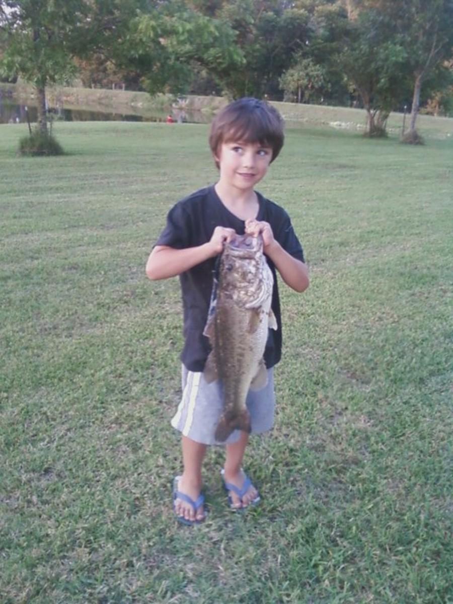 Tristan caught this bass.