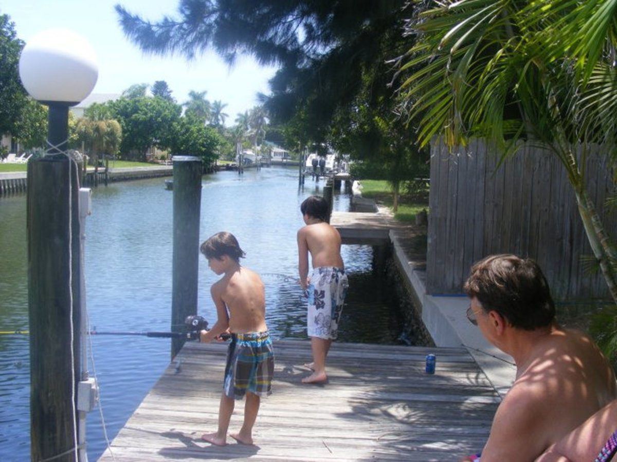 fishing a canal in South Florida