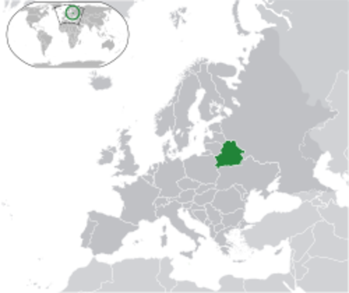 Location of Belarus in Europe