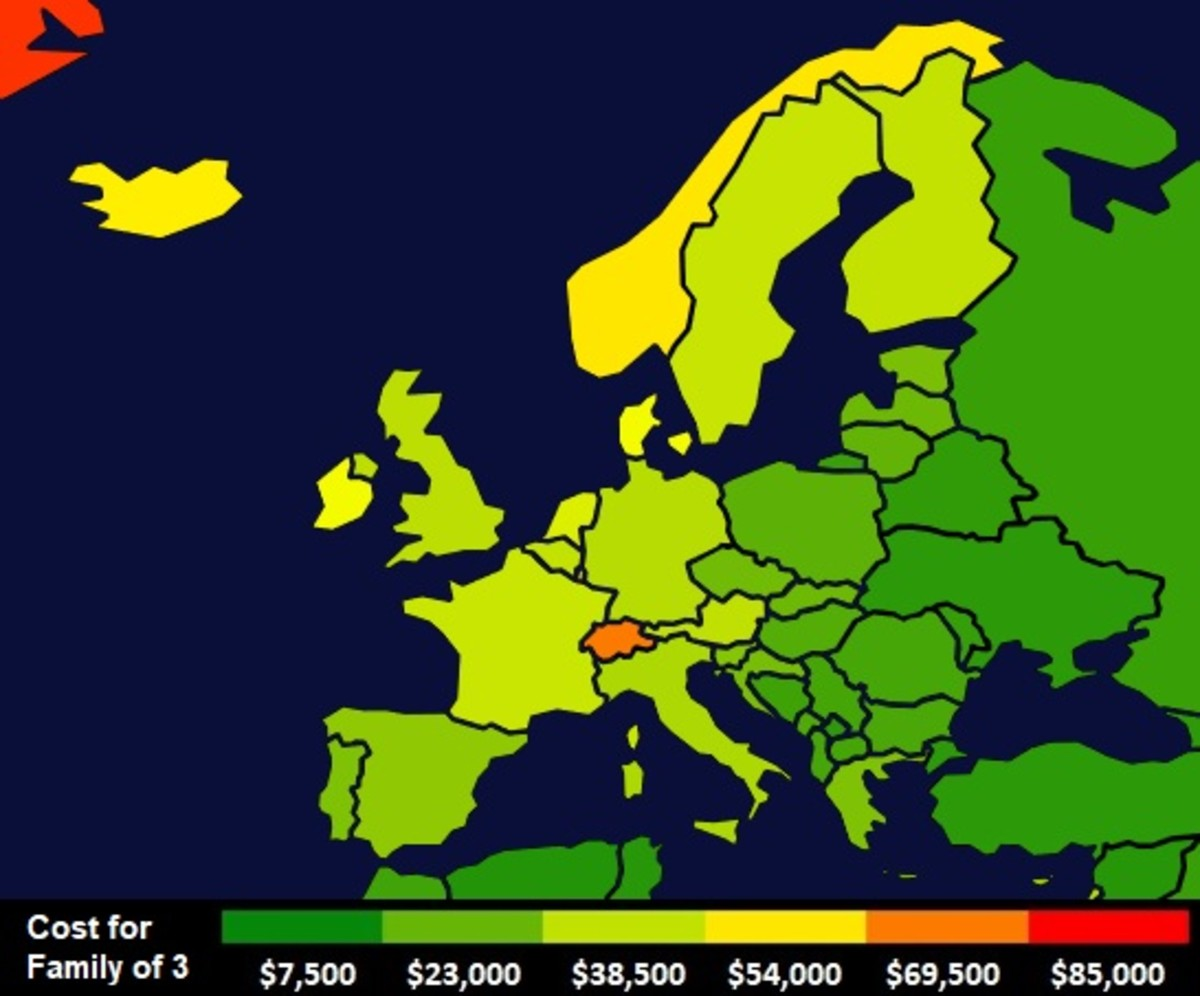 Cost of living for a family of three in Europe