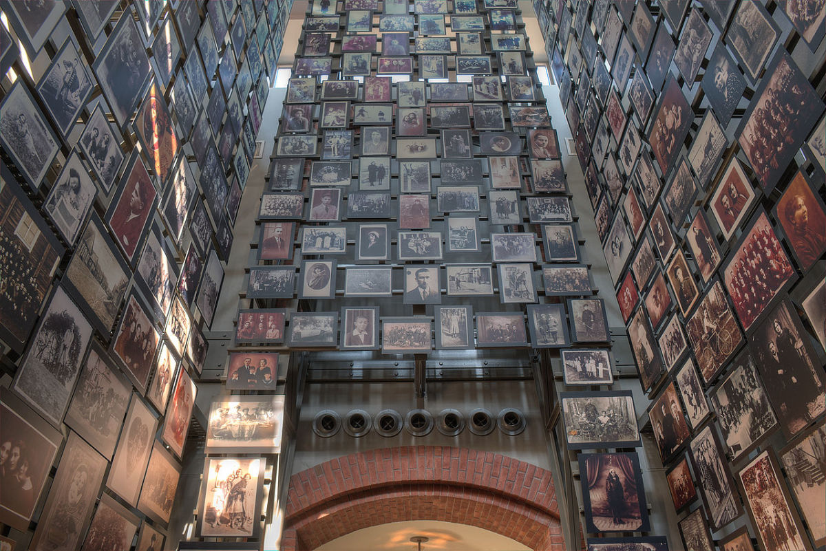 Tower of Faces at the Holocaust Museum