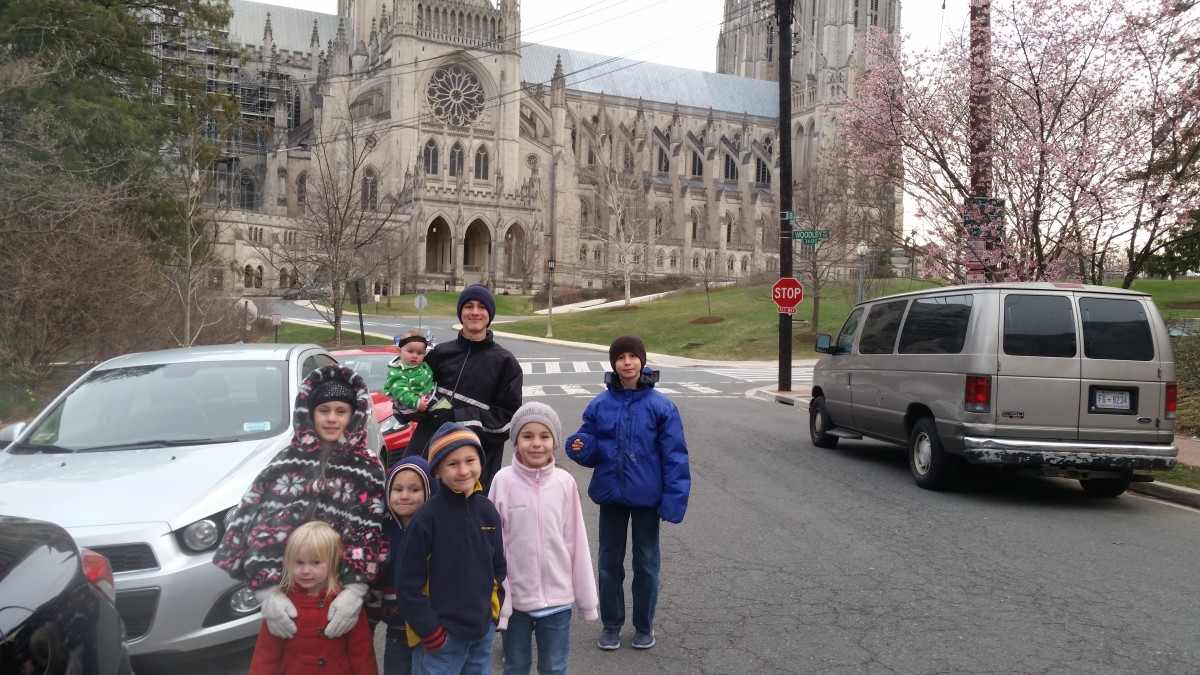 The National Cathedral, an Episcopalian church, is the 2nd largest cathedral in the US and the 6th largest in the world. If you want to view the Darth Vader Grotesque on the northwest tower, bring binoculars. Notice the cherry blossoms!