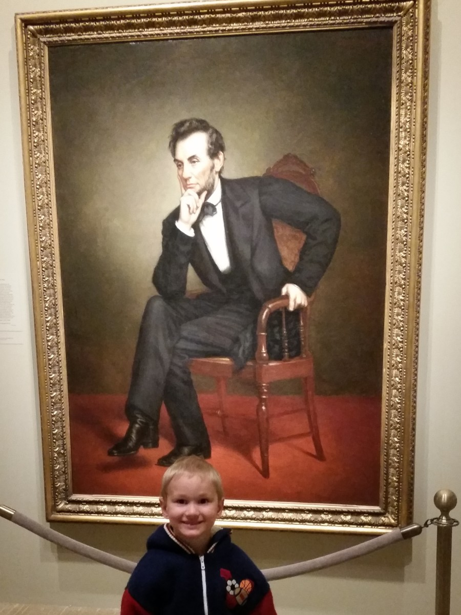 The National Portrait Gallery provided the perfect opportunity to review all the American history topics we have covered this year. So many of the portraits here are the ones we see in children's books and textbooks.