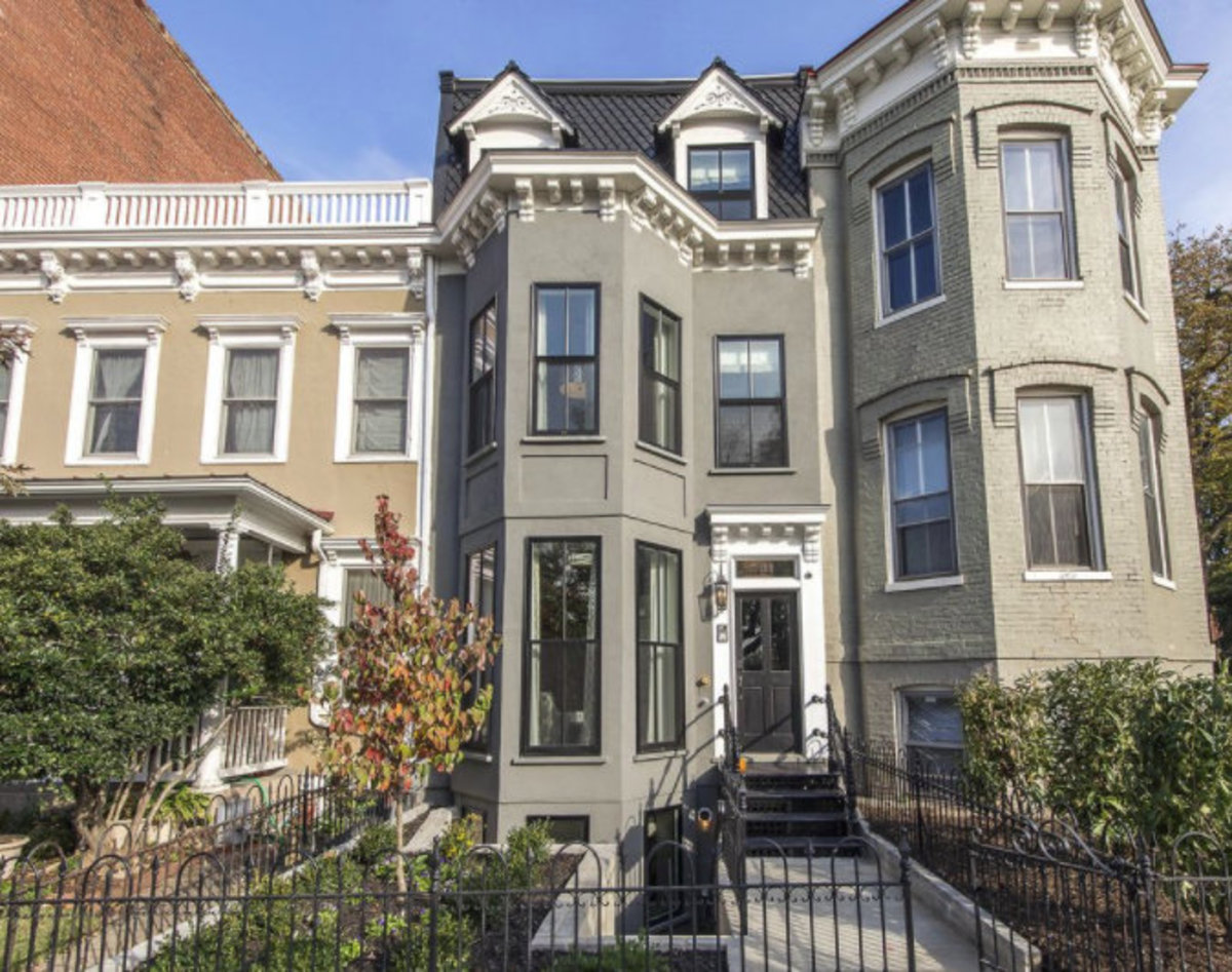 The townhouse we rented while staying in Washington, D.C.