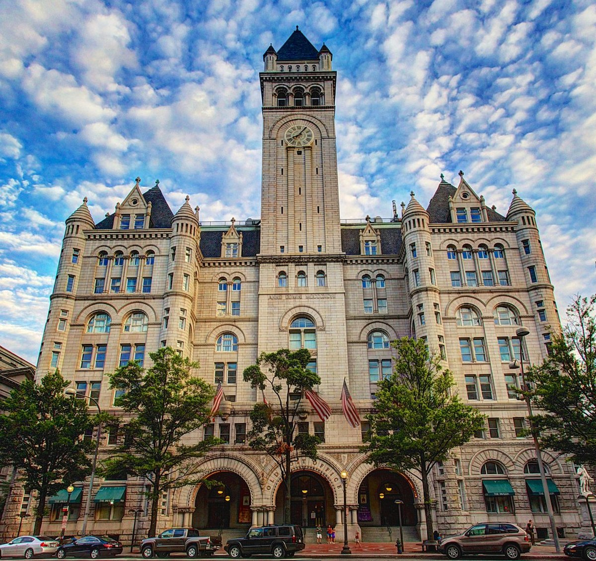 The Old Post Office tower in the Trump Hotel offers a beautiful view of the city.