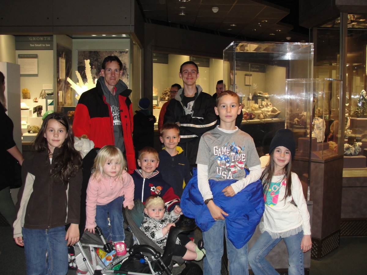 ...though my older children (and husband) were equally mesmerized by the extensive gemstone collection.