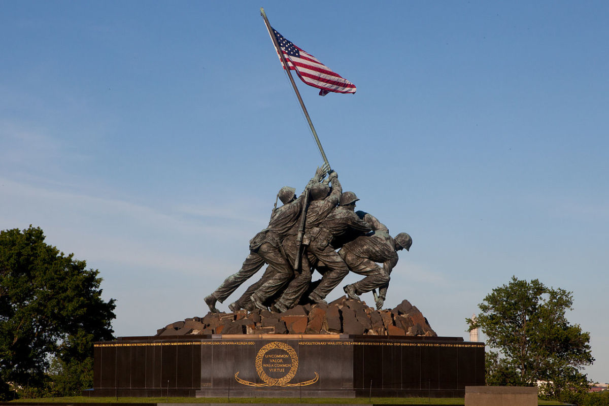 The Marine Corps War Memorial in Arlington