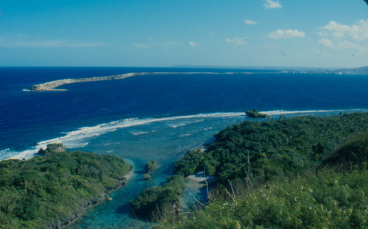Guam's Apra Harbor, taken from Orote Point