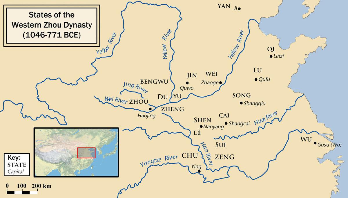 States of the Western Zhou dynasty