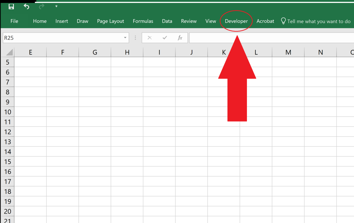 By default, the developer tab is not displayed in Microsoft Office programs. Adding the developer tab to the ribbon can allow users to run macros, create macros, use ActiveX controls, create applications and much more.
