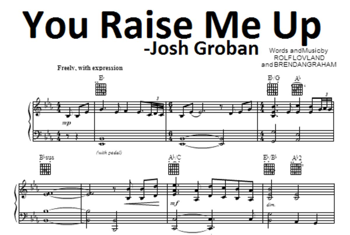 You Raise Me Up Sheetmusic