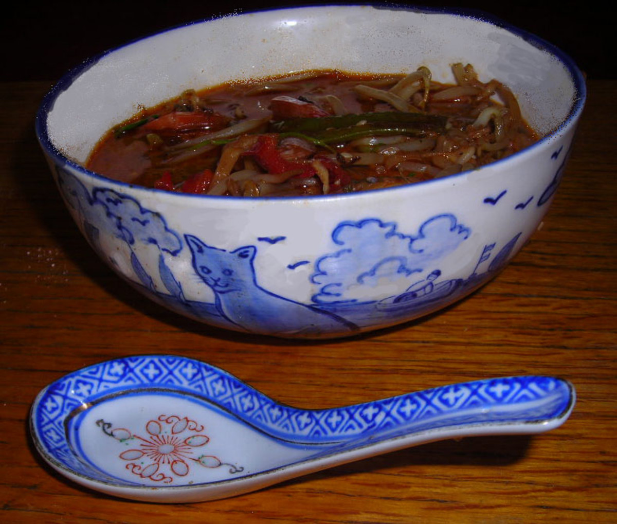 Home-cooked Chinese noodles (a la Diana Grant)