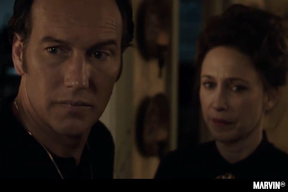 Patrick Wilson and Vera Farmiga as Ed and Lorraine Warren