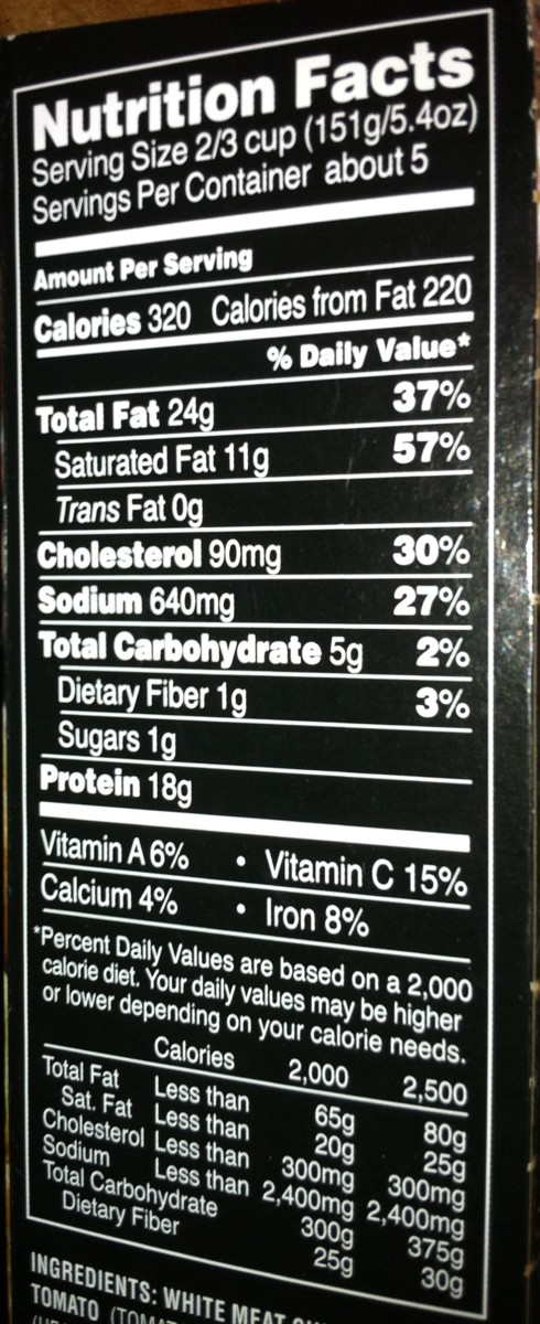 Here are the nutrition facts for Michael Angelo's Chicken Piccata. There are enough servings for a family of four. If your family is a little smaller, have no worries. The leftovers are excellent for breakfast or lunch the next day.