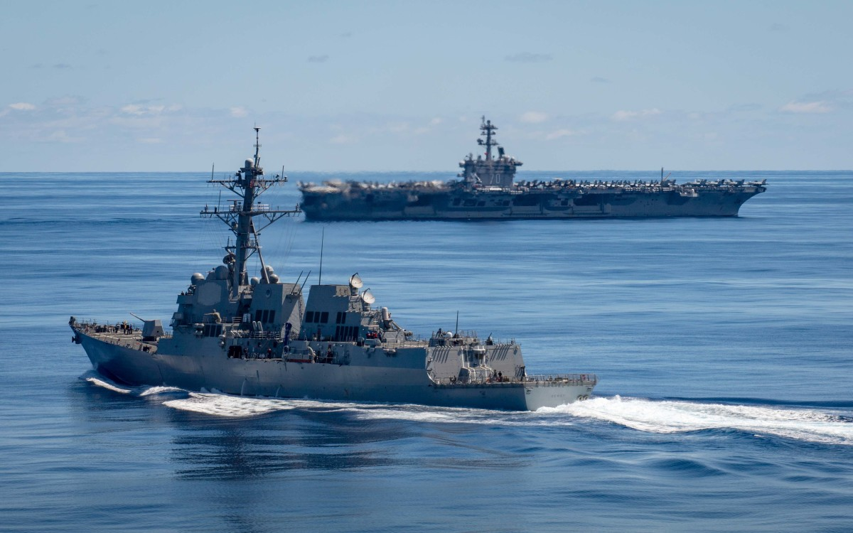 CV Vinson in Hawaiian Water