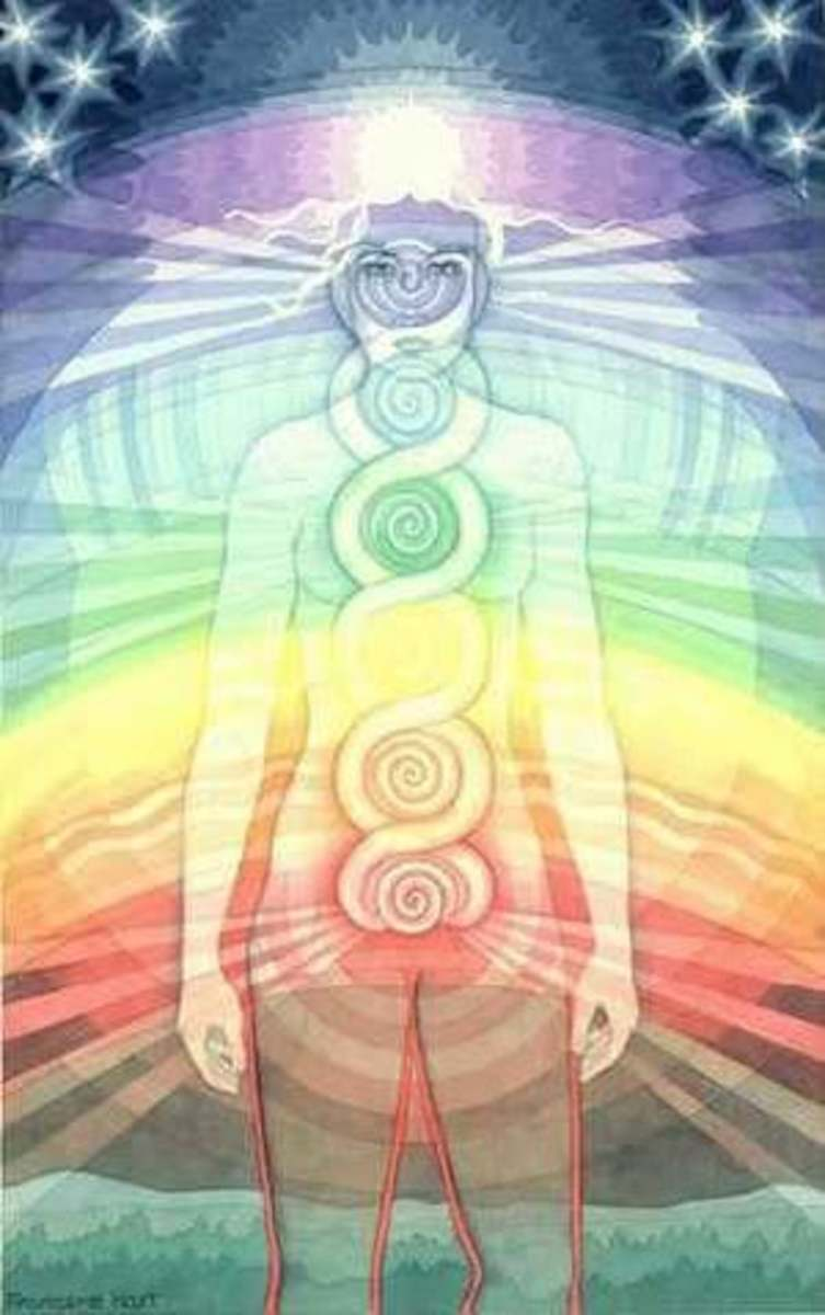 The Chakras; energy centers of the body.