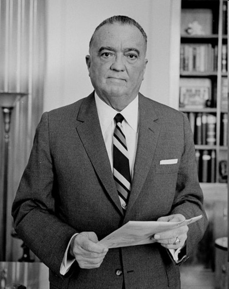 J Edgar Hoover, who ensured Chaplin would not return to his residency in the United States