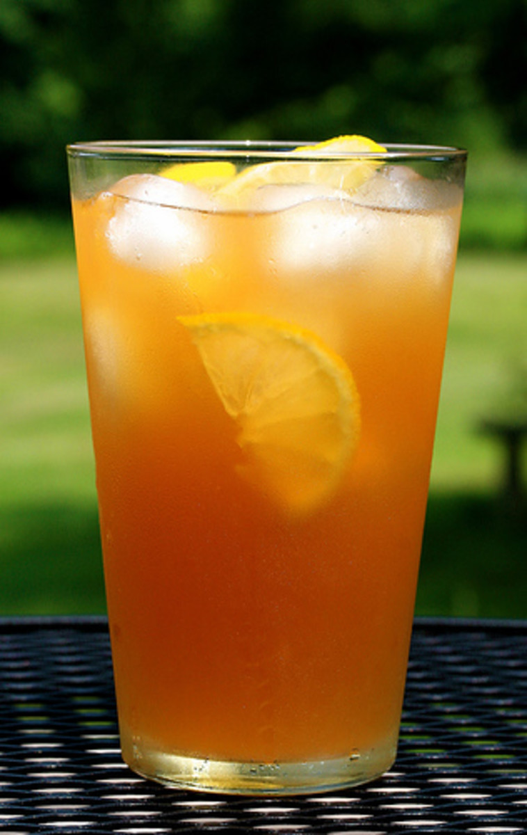 A refreshing glass of iced tea can cool one down on a hot day!