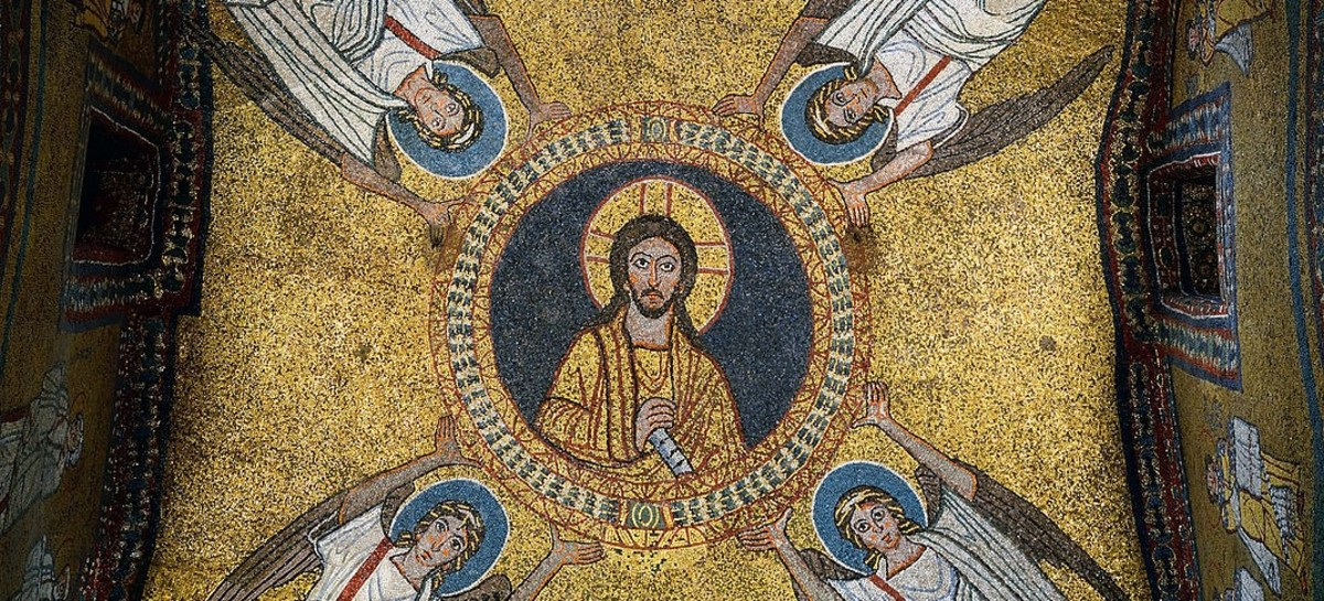 The mosaic in the vault of the chapel of San Zeno (Santa Prassede).