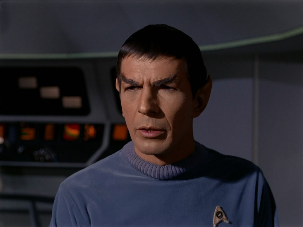 Leonard Nimoy plays Spock, the only character to carry over from the first pilot to the regular series of Star Trek.  His character has also remained active even through the present day Star trek reboots by J.J. Abrams.